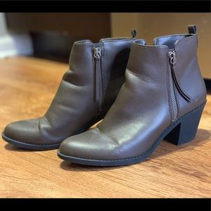 Brown Ankle Booties, Forever21